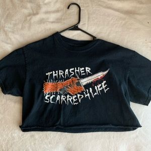 Cropped thrasher t shirt